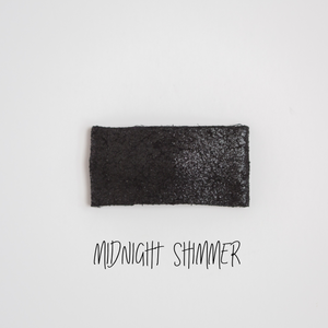 Midnight Shimmer Leather Snap Clip