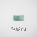 Frosted Mint Leather Snap Clip