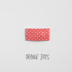 Orange Dots Glitter Snap Clip