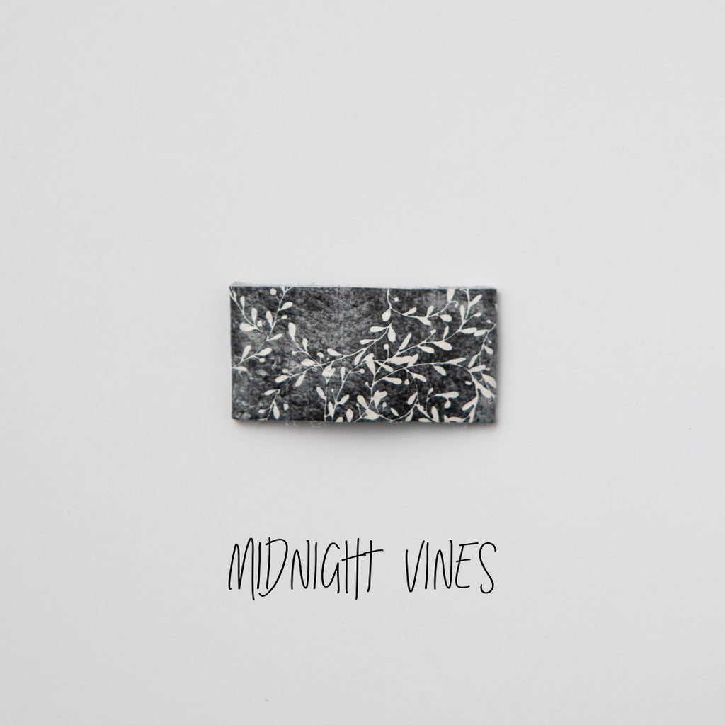 Midnight Vines Leather Snap Clip