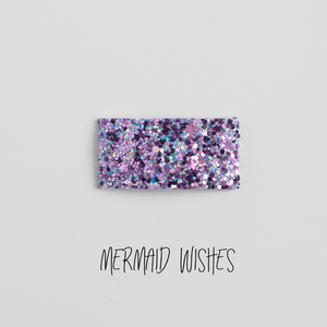 Mermaid Wishes Glitter Snap Clip