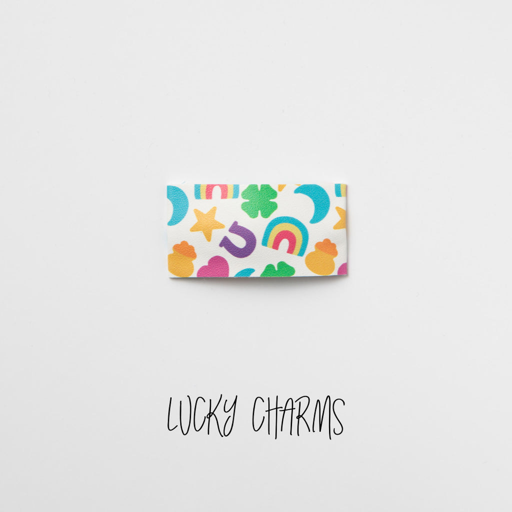 Lucky Charms Printed Faux Leather Snap Clip