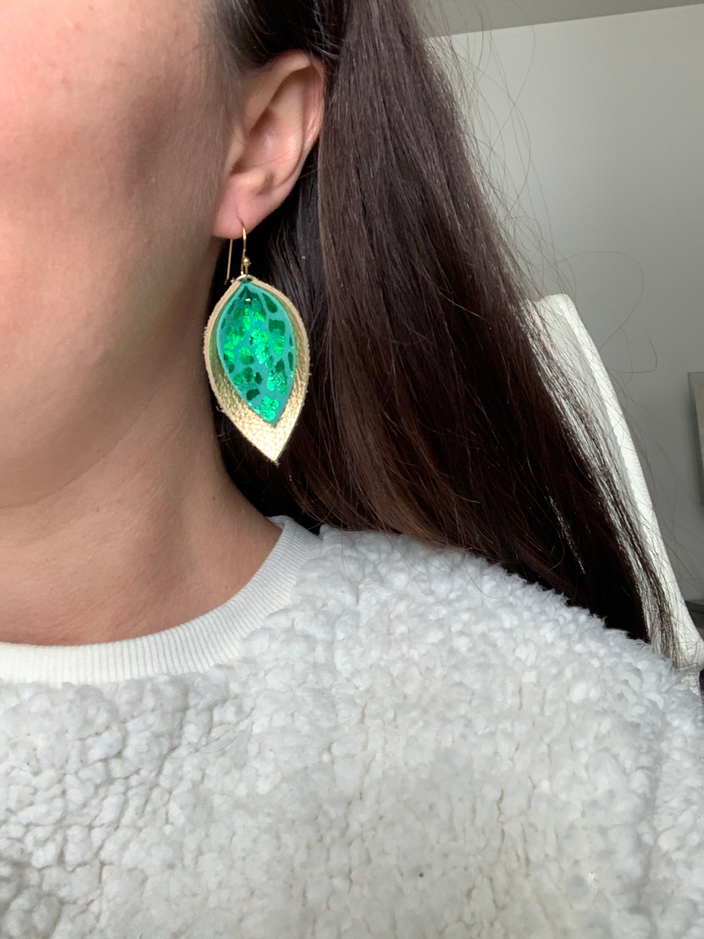 St Patrick Pinched Petal Earring