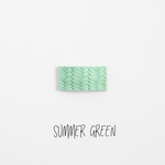 Summer Green Leather Snap Clip