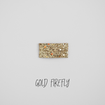 Gold Firefly Glitter Snap Clip