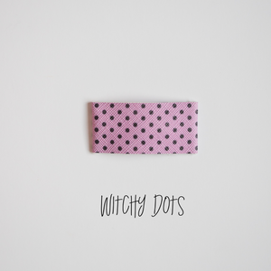 Witchy Dots Faux Leather Snap Clip