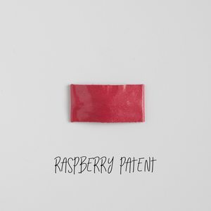 Raspberry Patent Leather Snap Clip