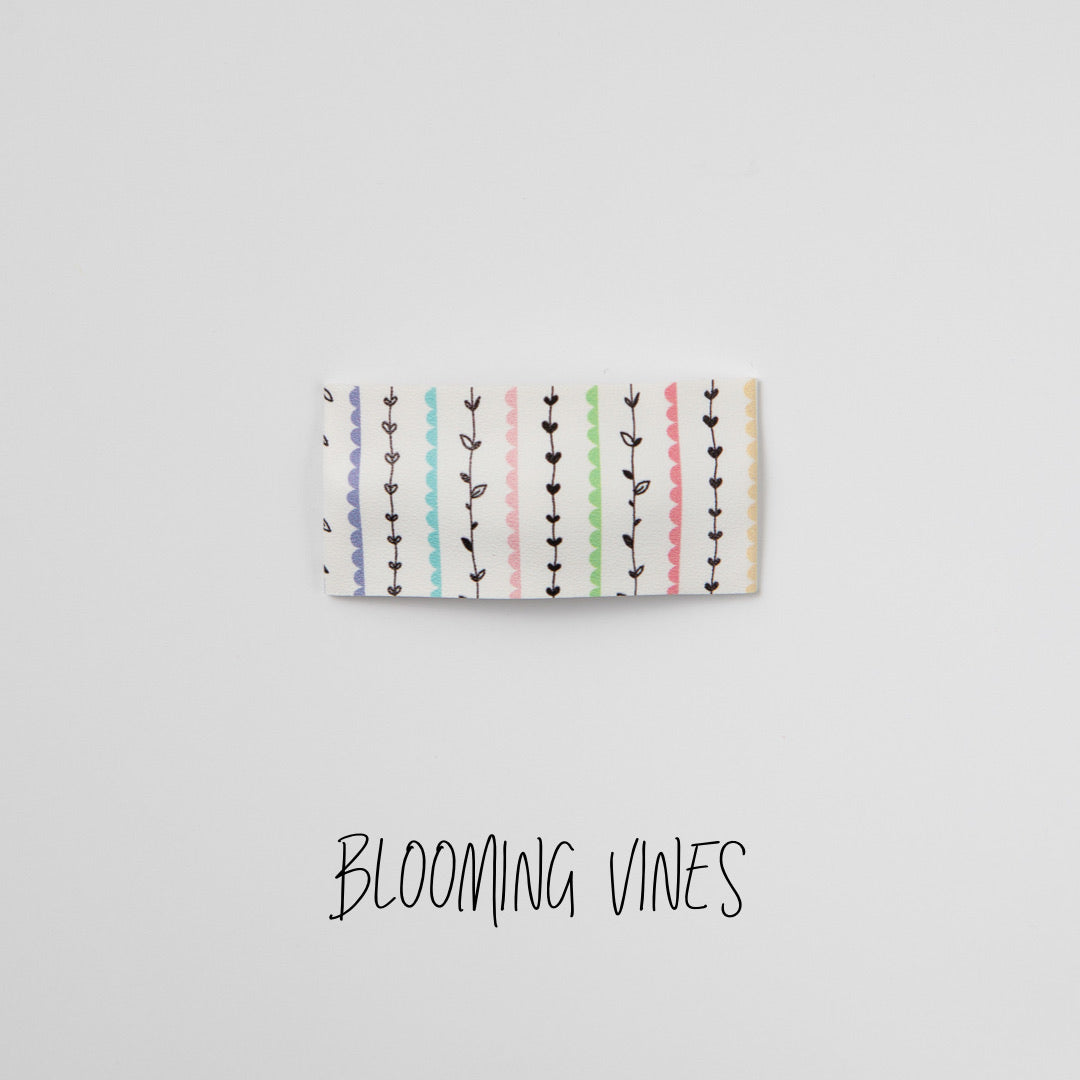 Blooming Vines Faux Leather Printed Snap Clip