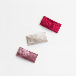 Crushed Velvet Snap Clips (multiple colors available)