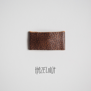 Hazelnut Leather Snap Clip