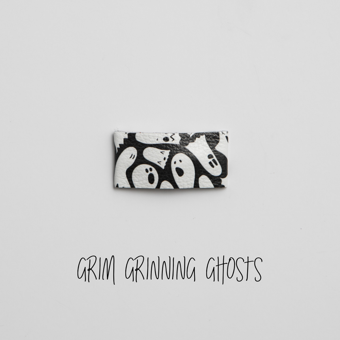 Grim Grinning Ghosts Leather Snap Clip