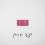 Patent Plaid Leather Snap Clip