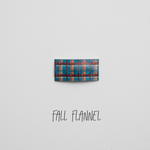 Fall Flannel Faux Leather Snap Clip