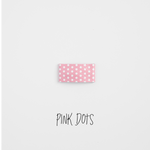 Pink Dots Leather Snap Clip