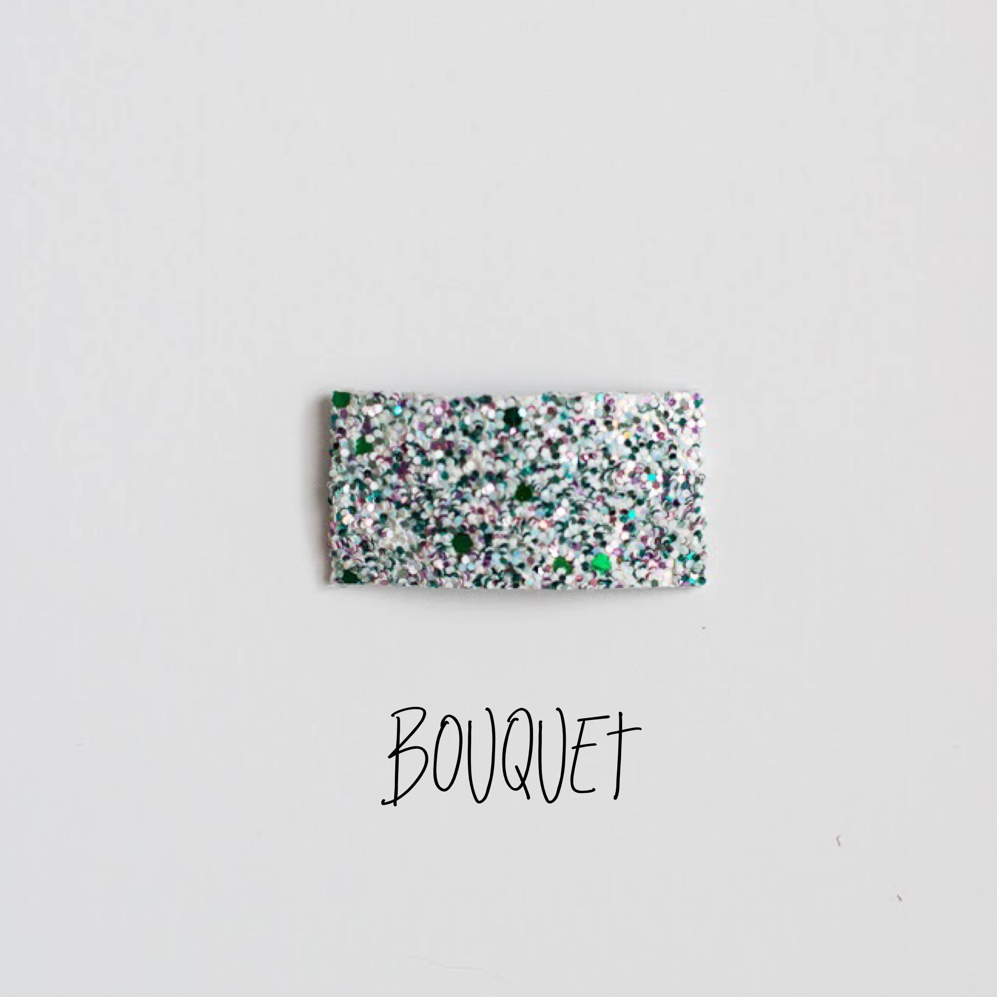 Bouquet Glitter Snap Clip