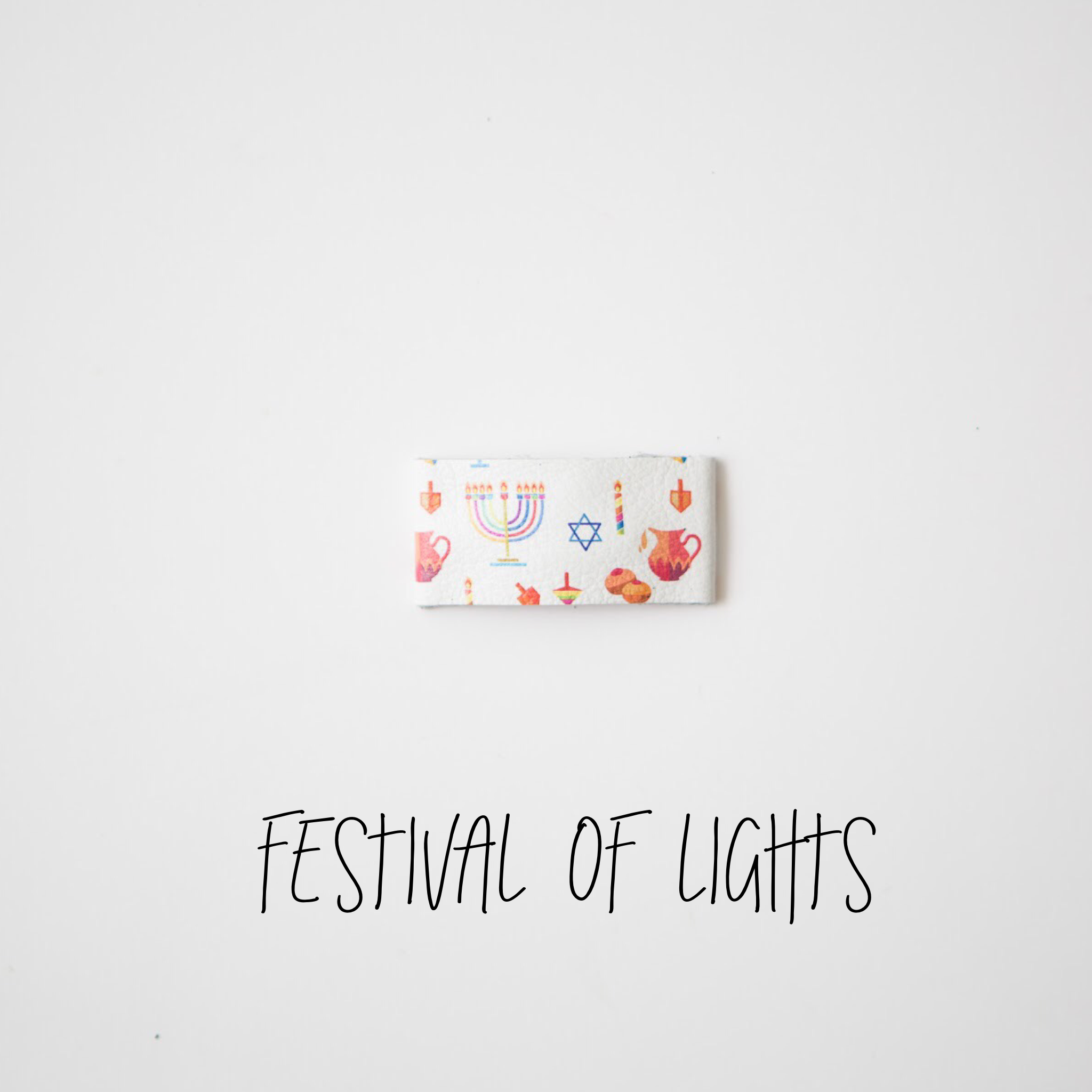 Festival of Lights Leather Snap Clip
