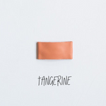 Tangerine Leather Snap Clip