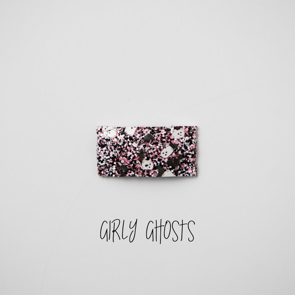Girly Ghosts Glitter Snap Clip