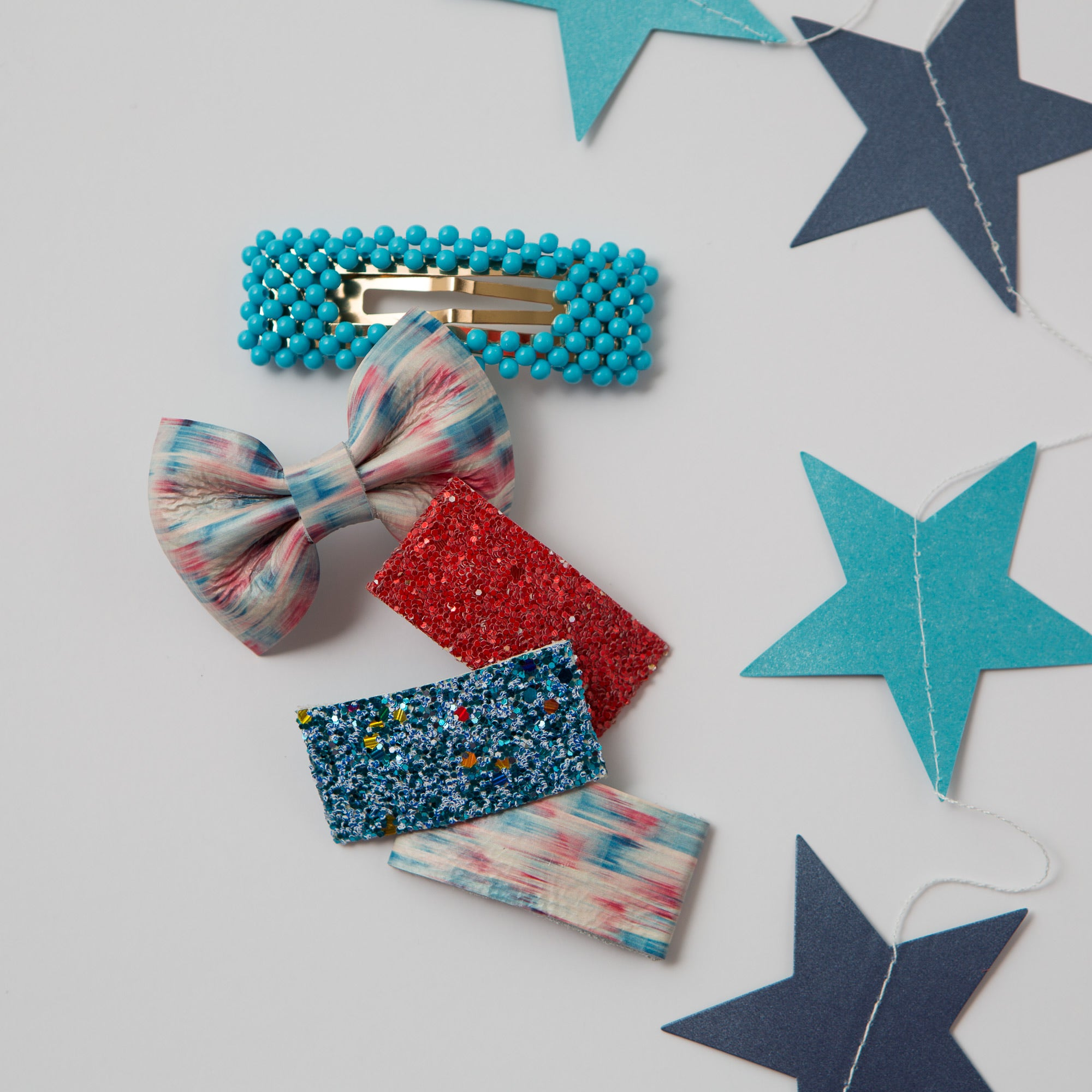 Beaded Snap Clips