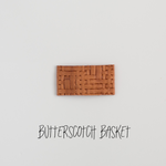 Butterscotch Basket Leather Snap Clip