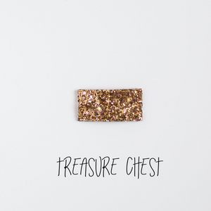 Treasure Chest Glitter Snap Clip