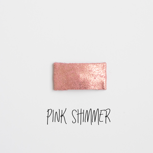 Pink Shimmer Leather Snap Clip