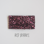 Red Berries Glitter Snap Clip