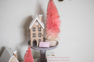 Gingerbread Roof Glitter Snap Clip