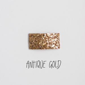 Antique Gold Glitter Snap Clip