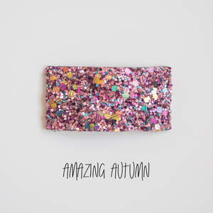 Amazing Autumn Glitter Snap Clip