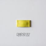 Chartreuse Faux Leather Snap Clip