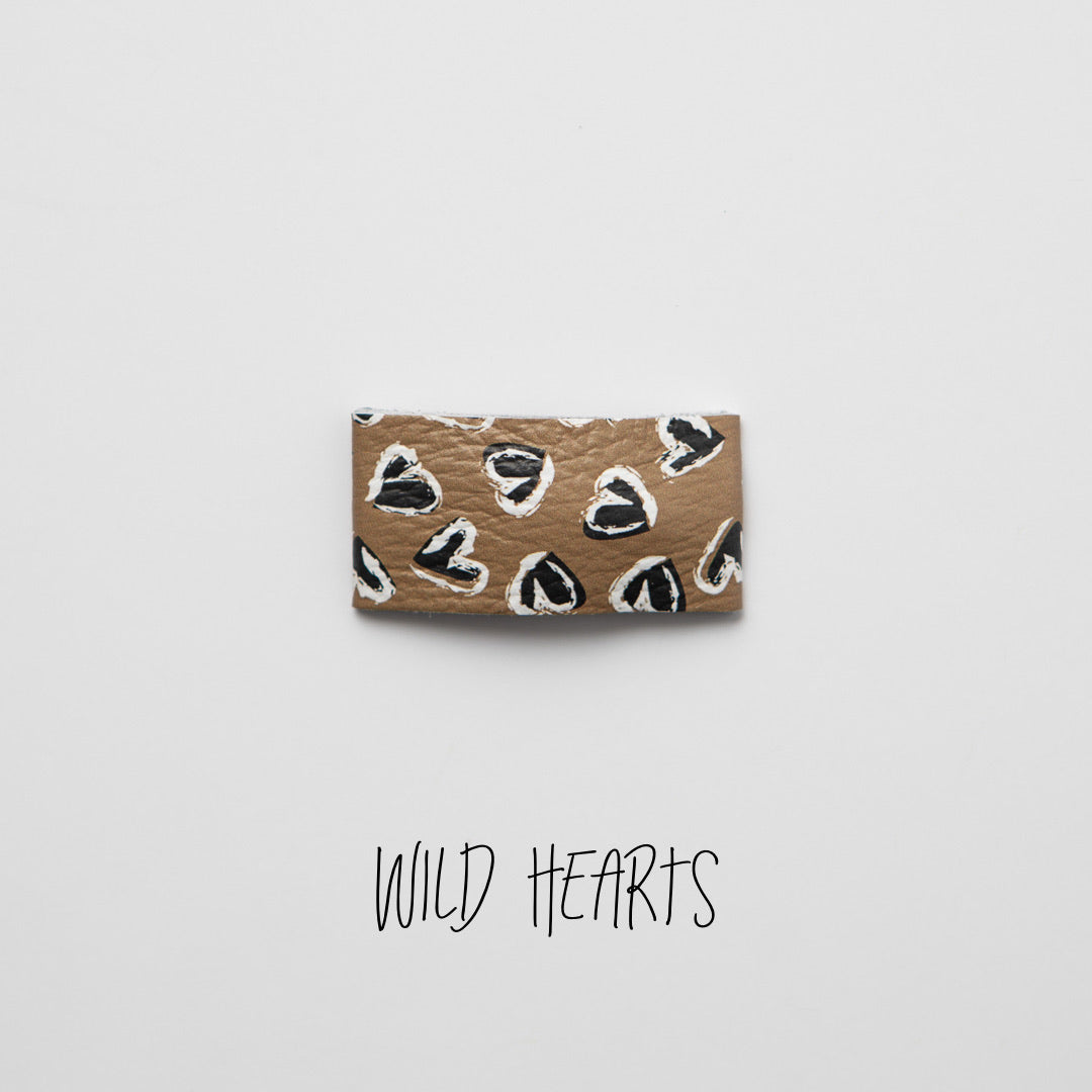 Wild Hearts Leather Snap Clip