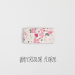 Watercolor Floral Leather Snap Clip