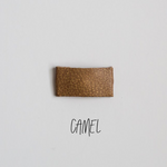 Camel Leather Snap Clip