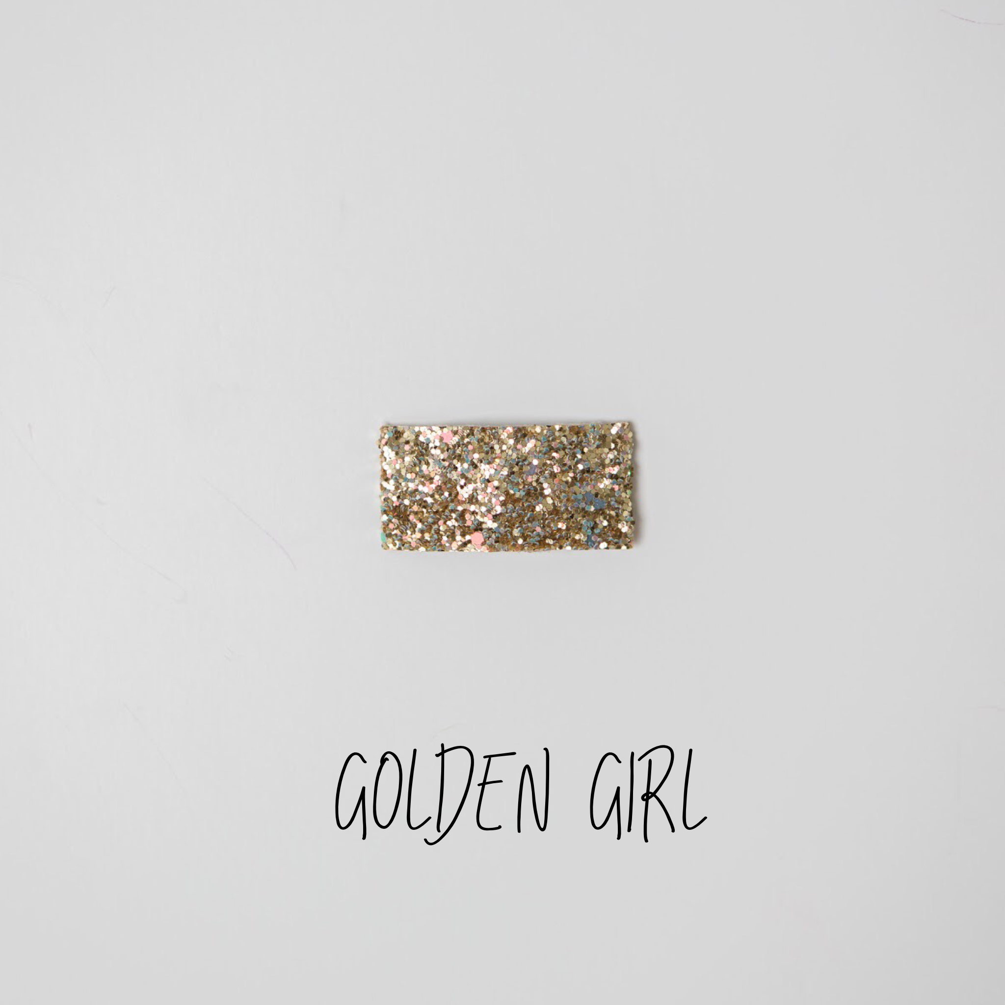 Golden Girl Glitter Snap Clip
