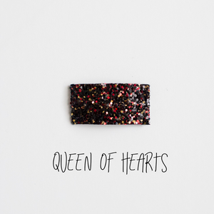 Queen of Hearts Glitter Snap Clip
