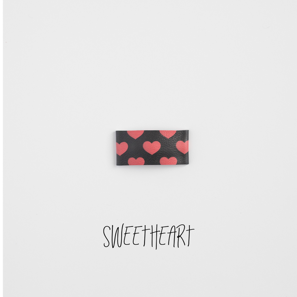 Sweetheart Leather Snap Clip