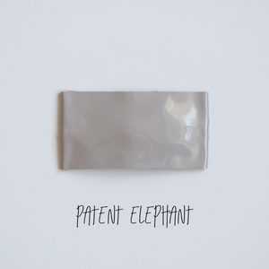 Patent Elephant Faux Leather Snap Clip