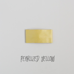 Pearlized Yellow Leather Snap Clip