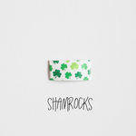 Shamrocks Printed Faux Leather Snap Clip