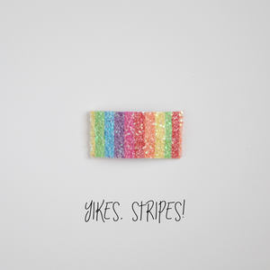 Yikes, Stripes Glitter Snap Clip