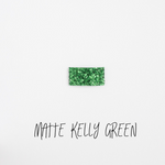 Matte Kelly Green Glitter Snap Clip