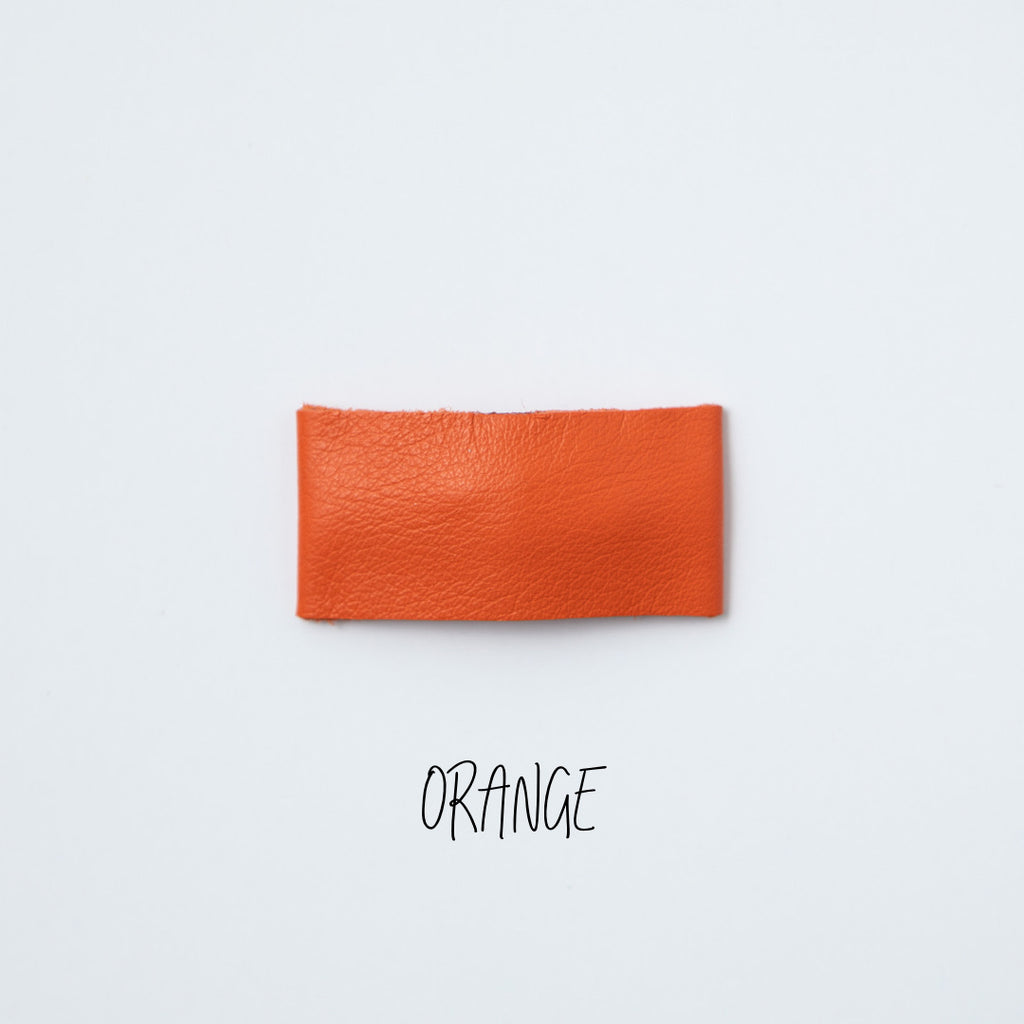 Orange Leather Snap Clip