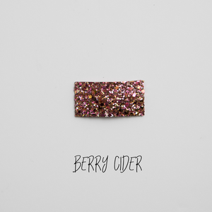 Berry Cider Glitter Snap Clip