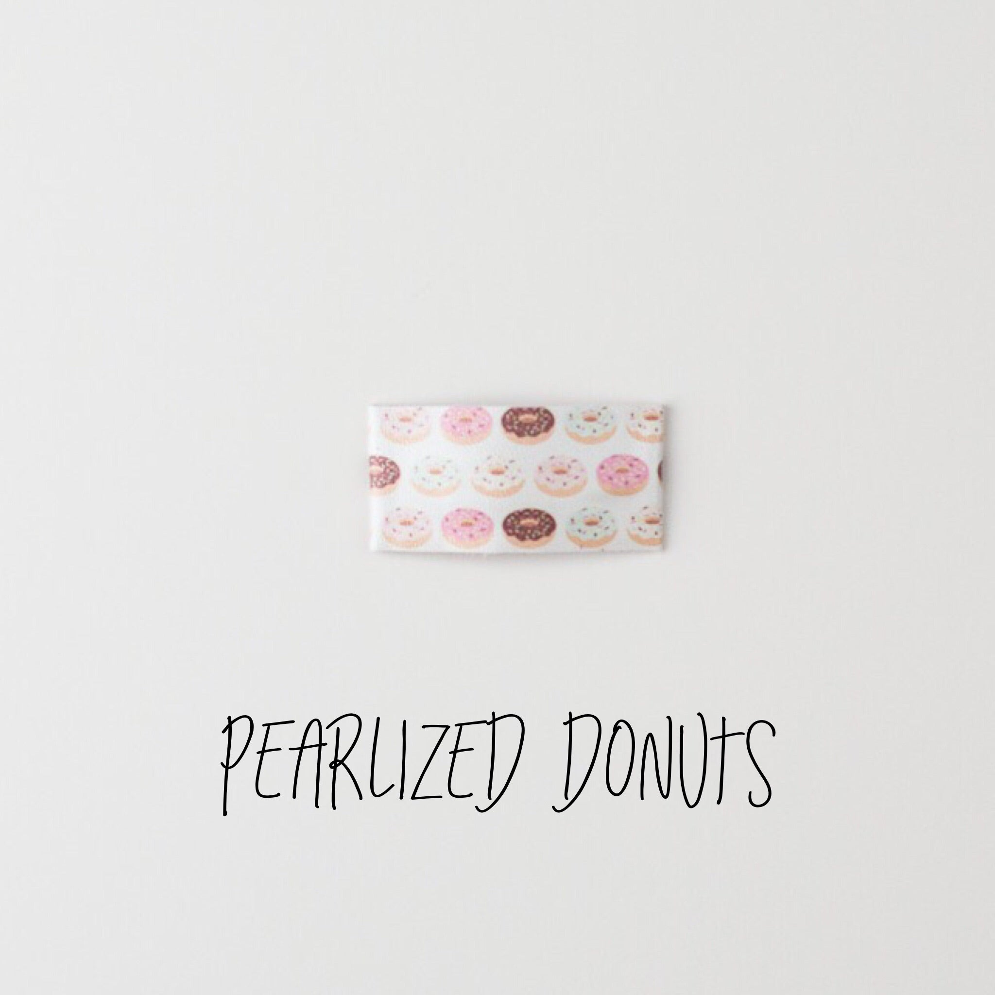 Donut Faux Leather Bow