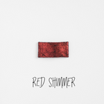 Red Shimmer Leather Snap Clip