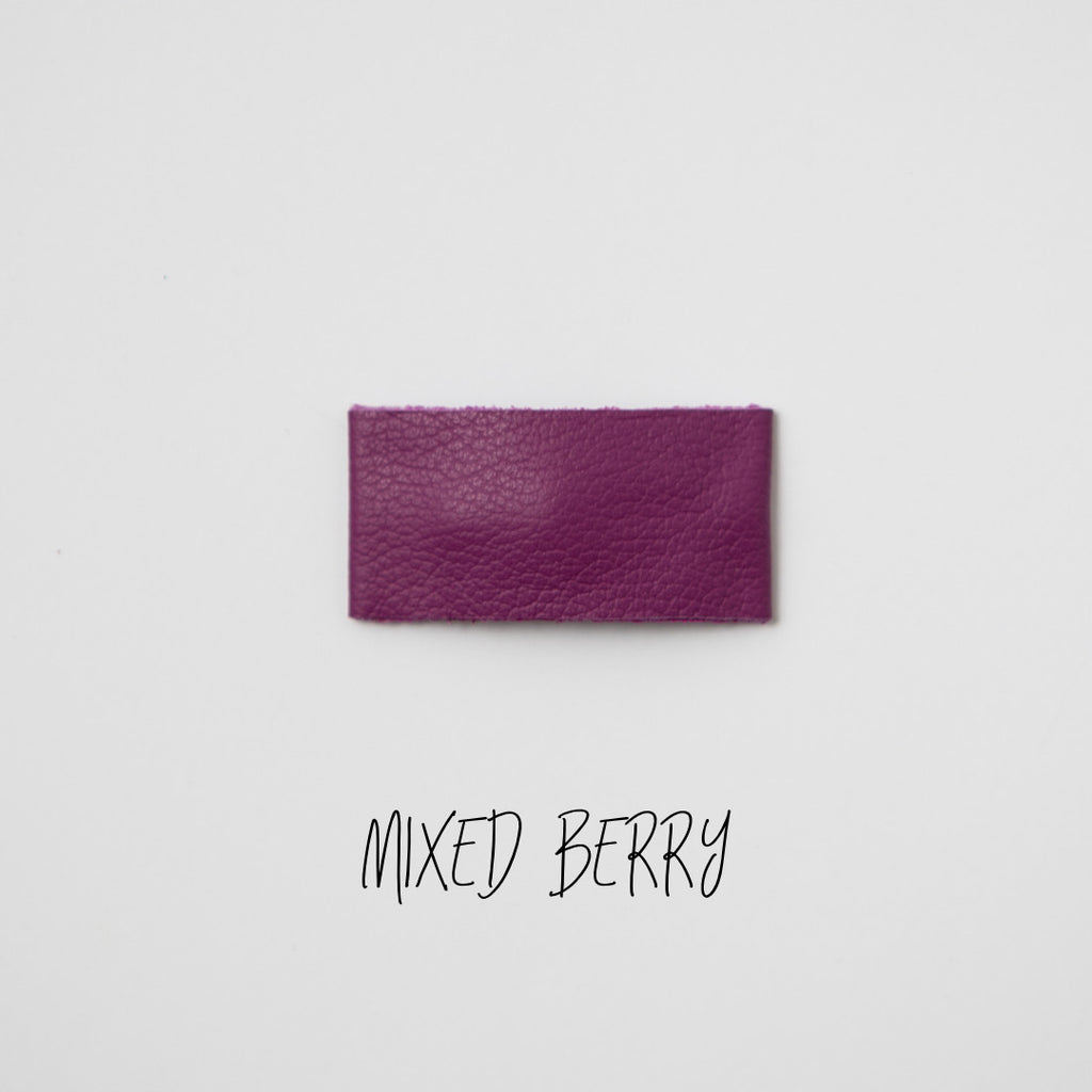 Mixed Berry Leather Snap Clip