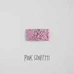 Pink Confetti Leather Snap Clip