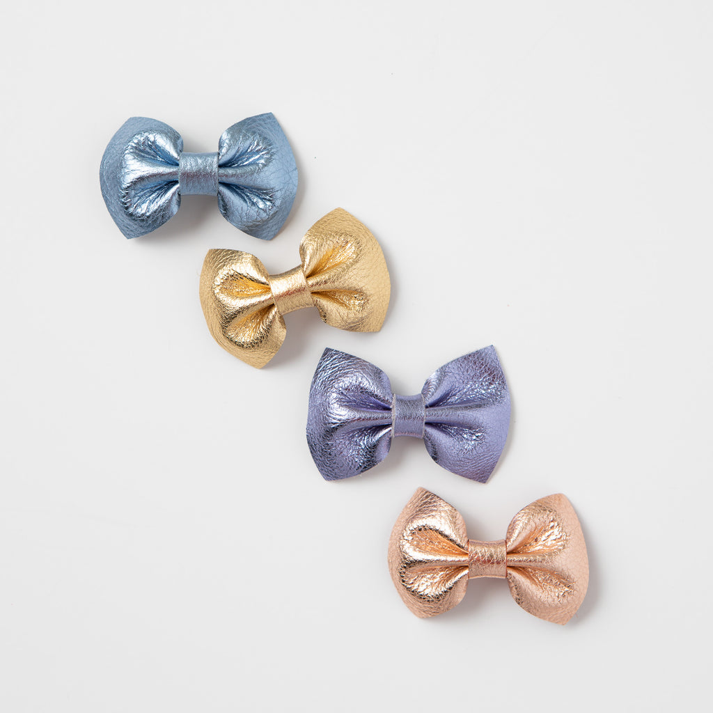 Metallic Leather Bows (more colors available)