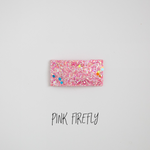 Pink Firefly Glitter Snap Clip